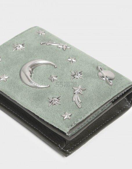 超美薄荷绿~CHARLES & KEITH 丝绒星月卡包 (约201元) - 海淘优惠海淘折扣|55海淘网