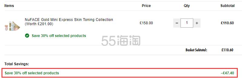 7折+关税补贴!Nuface mini 家用提拉紧致美容仪 粉色玫瑰金限量套装 £110.6(约963元) - 海淘优惠海淘折扣|55海淘网