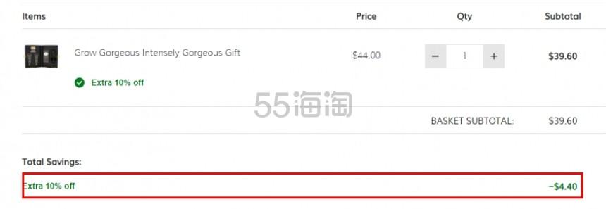限时高返+额外9折!GROW GORGEOUS 生发防脱限定礼盒 .6(约274元) - 海淘优惠海淘折扣|55海淘网