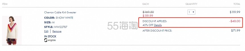 Tommy Hilfiger 彩色V领毛衣 .99(约496元) - 海淘优惠海淘折扣|55海淘网