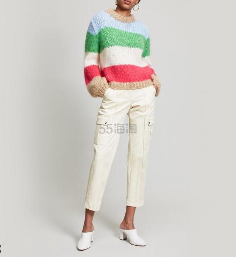 网红款5折!Ganni Juilliard 彩色条纹毛衣 £170(约1,479元) - 海淘优惠海淘折扣 55海淘网