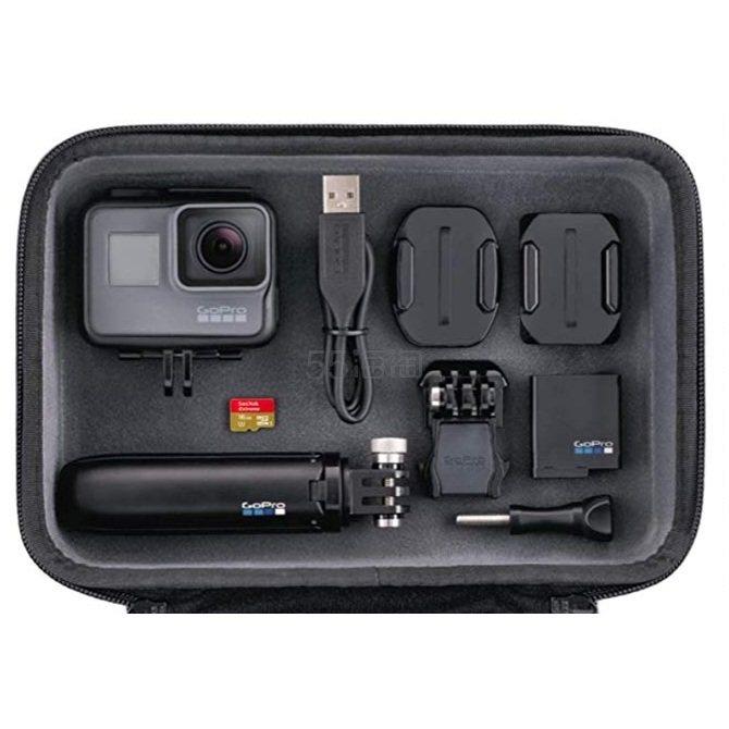 【中亚Prime会员】GoPro HERO5 4K黑色运动相机摄像机套装(包括 Casey + Shorty + 16GB 存储卡)