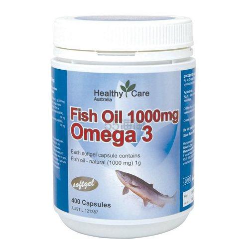 【满减10澳】Healthy Care 鱼油 1000mg 400片 12.99澳币(约63元) - 海淘优惠海淘折扣 55海淘网