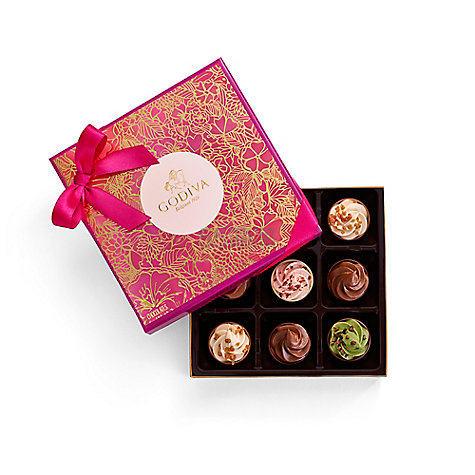 【情人节限定款】Godiva 歌帝梵 爱意满满慕斯杯子巧克力礼盒 9颗 .95 - 海淘优惠海淘折扣|55海淘网