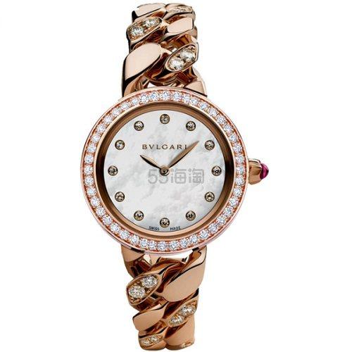 珠宝和腕表的完美结合~Bulgari 宝格丽 Catene 系列 奢华18K玫瑰金镶钻女士腕表 102037 ,000(约171,833元) - 海淘优惠海淘折扣|55海淘网