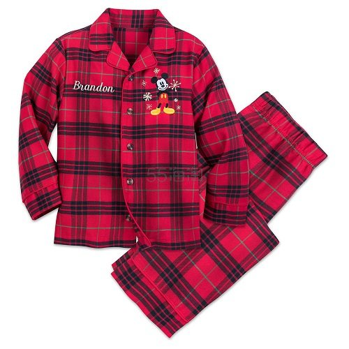 Disney 迪士尼 米奇格子男童分体睡衣 .99(约69元) - 海淘优惠海淘折扣|55海淘网