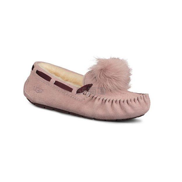 UGG® 女士粉色毛毛鞋 .99(约619元) - 海淘优惠海淘折扣|55海淘网
