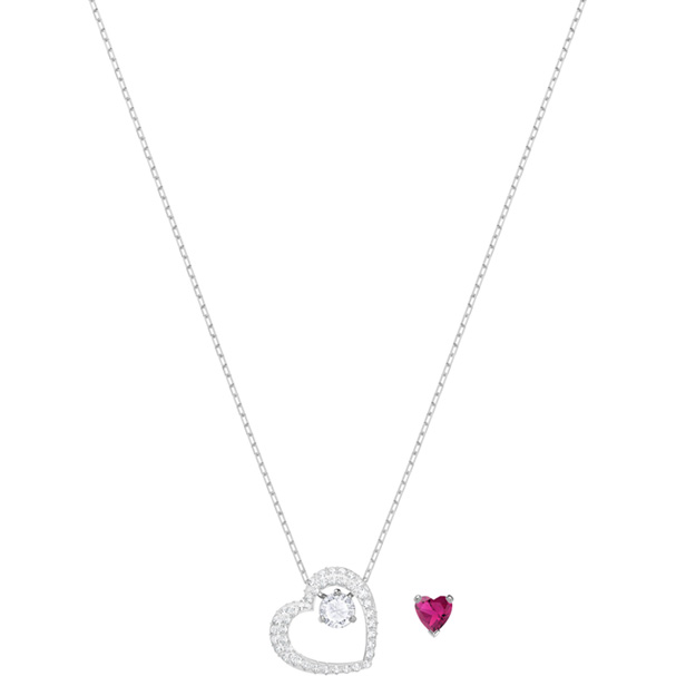 Swarovski Love Heart 粉晶项链