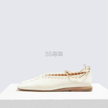 JIL SANDER 圆环奶白色编织平底鞋 ¥4,748.1 - 海淘优惠海淘折扣|55海淘网