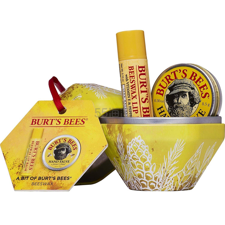 【中亚Prime会员】Burts Bees 小蜜蜂 蜜蜡保湿滋润礼盒套装 润唇膏4.25g+润手霜8.5g 到手价63元 - 海淘优惠海淘折扣|55海淘网