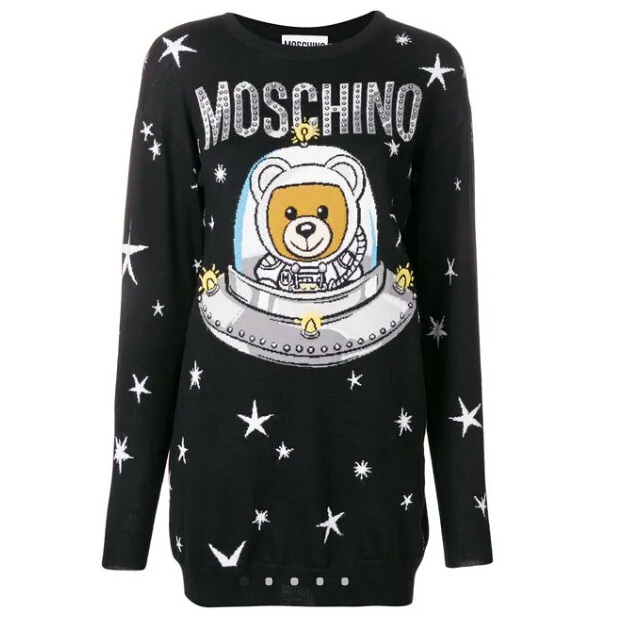 MOSCHINO Toy Bear针织连衣裙