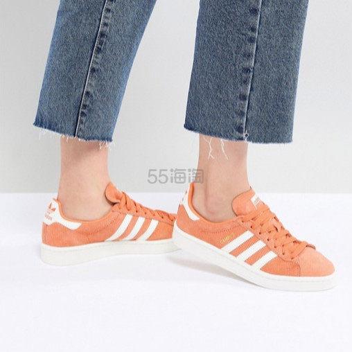 adidas Originals 三叶草橘色运动鞋 £50(约434元) - 海淘优惠海淘折扣|55海淘网
