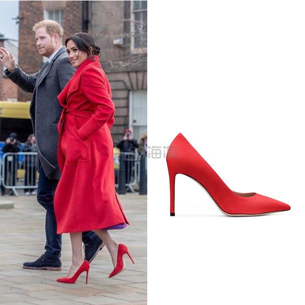 【英国王妃同款】Stuart Weitzman 红色细高跟鞋 8(约2,689元) - 海淘优惠海淘折扣|55海淘网