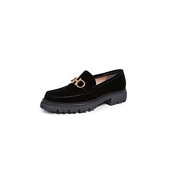 d62aa853ae Salvatore Ferragamo 菲拉格慕Bleecker Velvet Gancini 天鹅绒乐福鞋