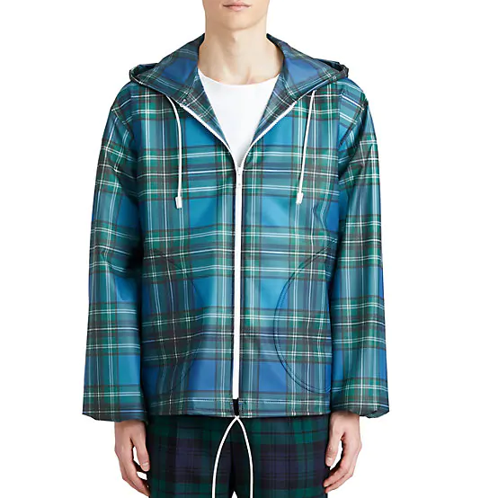 Burberry Tartan Tech Taffeta K-Way 格纹外套