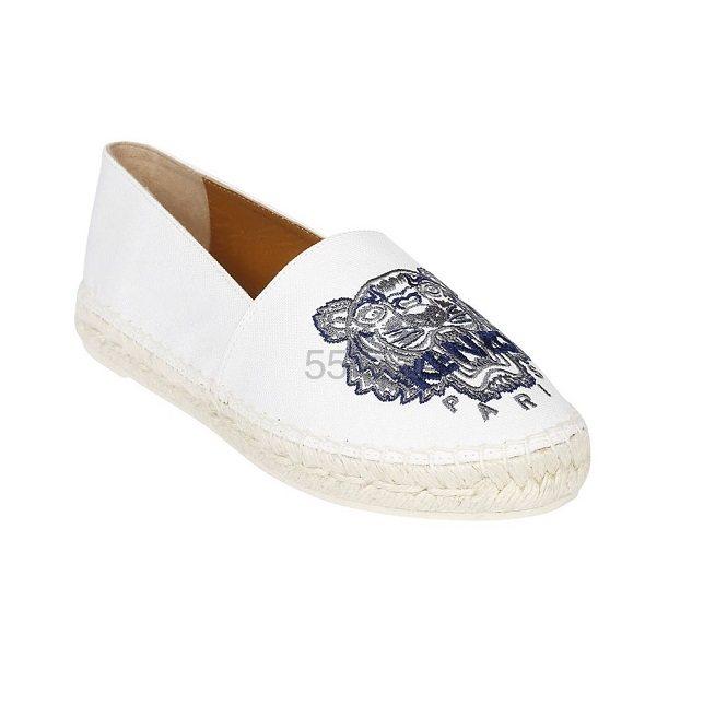 Kenzo 虎头白色草编鞋 €118.41(约913元) - 海淘优惠海淘折扣|55海淘网