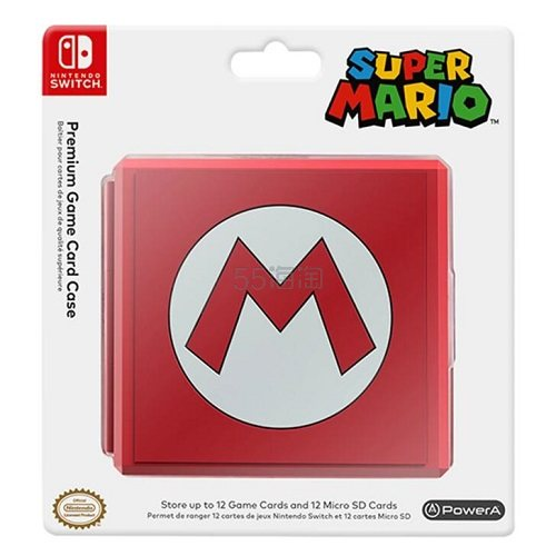 《超级玛丽奥》主题版!PowerA 任天堂 Switch 12卡位游戏SD卡收纳包 .99(约40元) - 海淘优惠海淘折扣|55海淘网