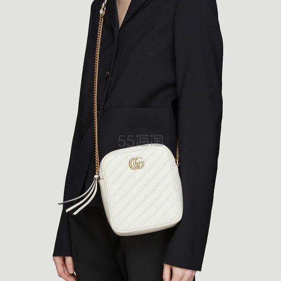 GUCCI GG Marmont 白色迷你单肩包 ,352(约9,100元) - 海淘优惠海淘折扣|55海淘网