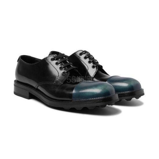 PRADA 撞色男士皮鞋 £250.5(约2,220元) - 海淘优惠海淘折扣|55海淘网