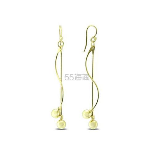 SZUL 纯银镀金圆球流苏耳环 .81(约140元) - 海淘优惠海淘折扣|55海淘网