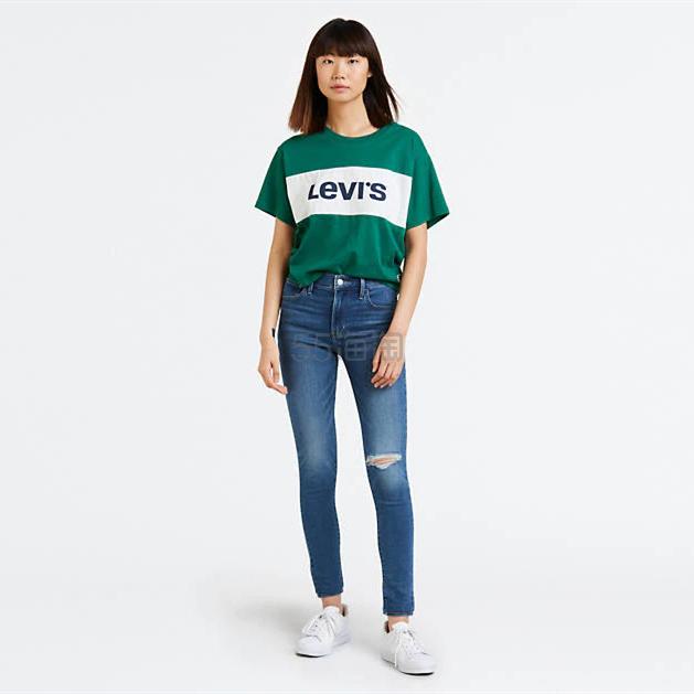 Levis 720 女士修身破洞牛仔裤 .97(约91元) - 海淘优惠海淘折扣|55海淘网