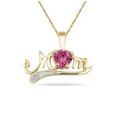 送母亲好礼 多色水晶可选镀金项链