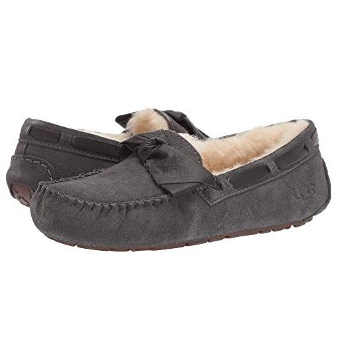 UGG Dakota Leather Bow 毛绒平底鞋 .99(约440元) - 海淘优惠海淘折扣|55海淘网