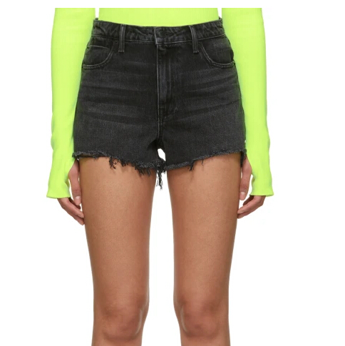 Alexander Wang Grey Denim Bite Shorts 牛仔短裤