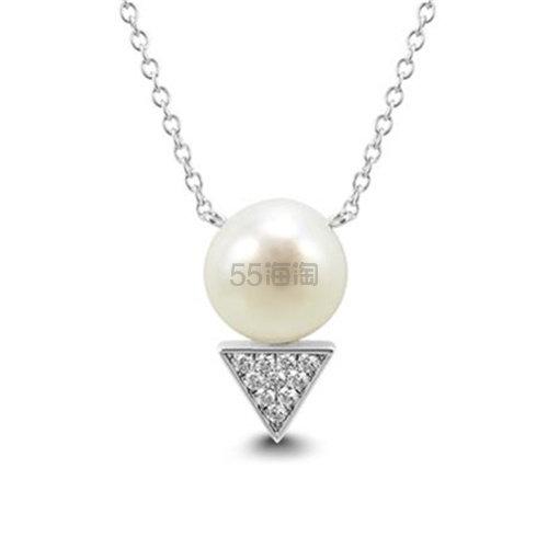 SZUL 9mm珍珠施华洛世奇水晶银项链 .9(约168元) - 海淘优惠海淘折扣 55海淘网