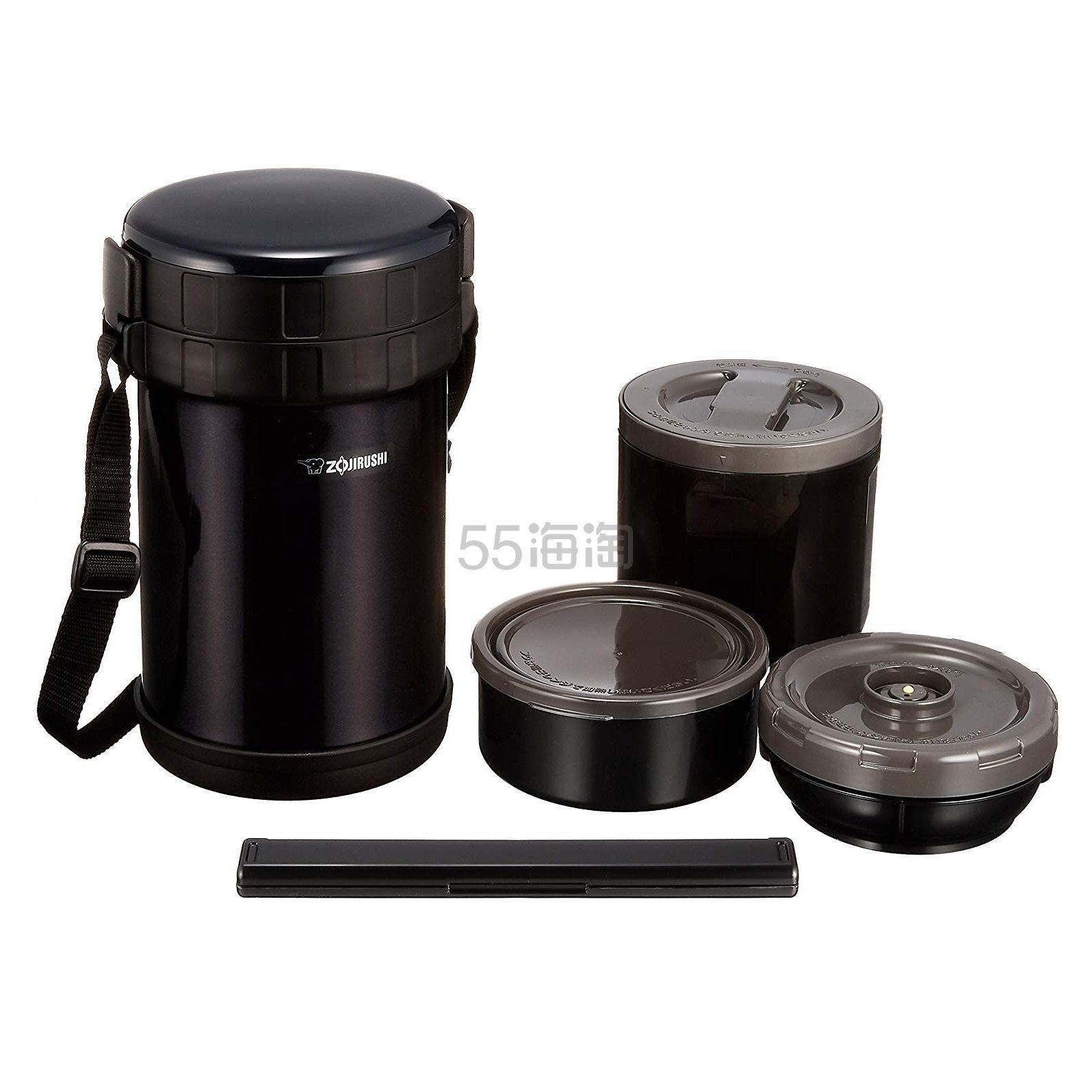 【中亚Prime会员】ZOJIRUSHI 象印 黑色不锈钢保温饭盒便当盒 SL-XE20-AD 到手价200元 - 海淘优惠海淘折扣|55海淘网