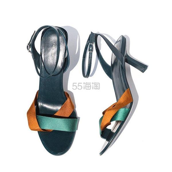 The Row 复古交叉带拼色低跟凉鞋 7(约1,792元) - 海淘优惠海淘折扣|55海淘网