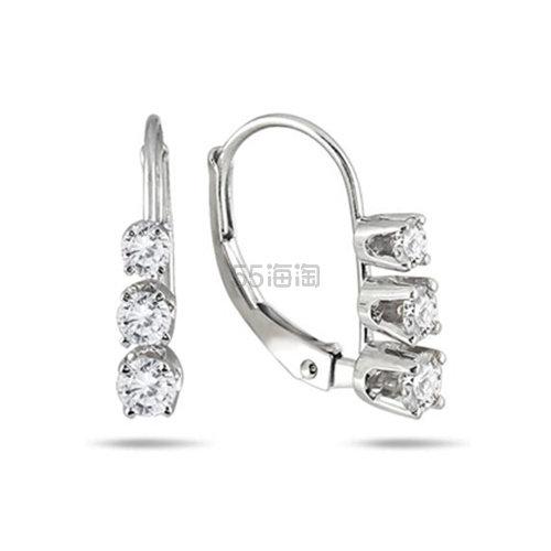 【高性价比】SZUL 1/2 克拉钻石10k白金耳环 9(约1,665元) - 海淘优惠海淘折扣|55海淘网