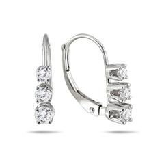 【高性价比】SZUL 1/2 克拉钻石10k白金耳环