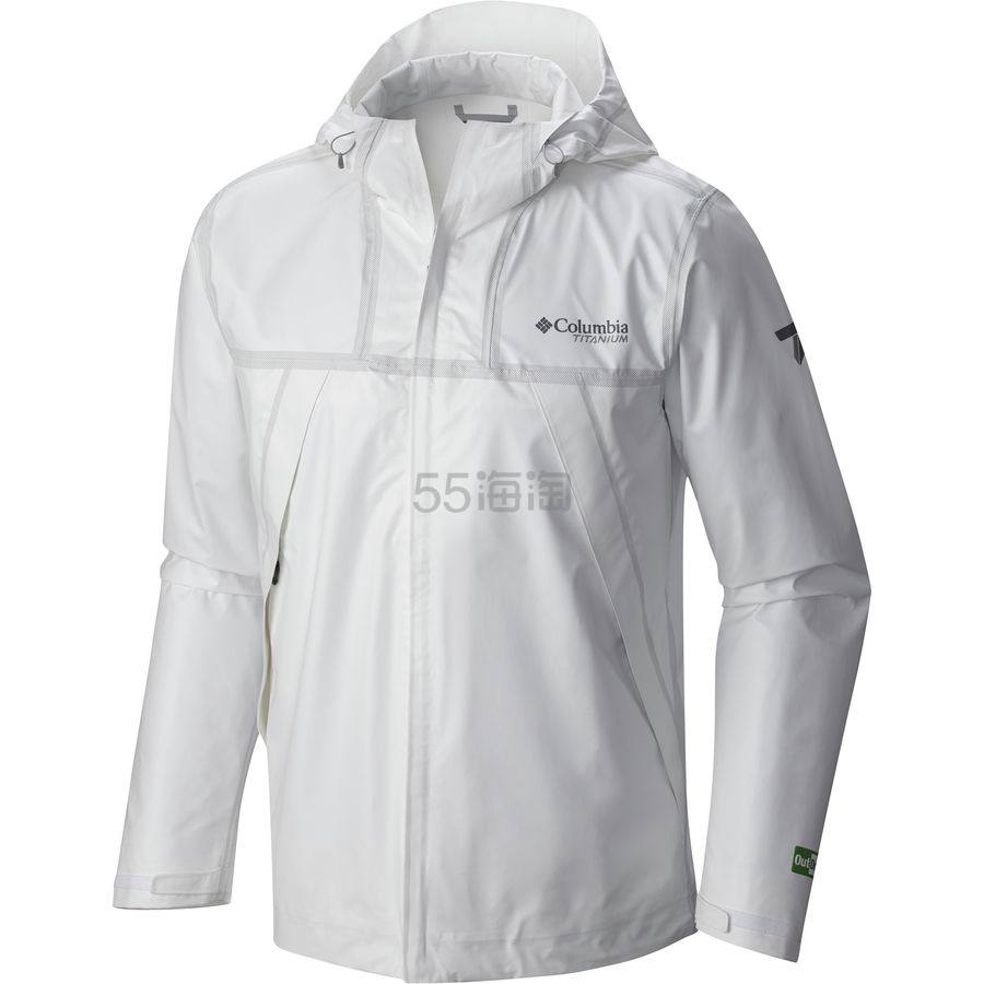 码全!Columbia 哥伦比亚 Titanium Outdry Ex Eco 男款防水冲锋衣 白色 5.52(约840元) - 海淘优惠海淘折扣|55海淘网