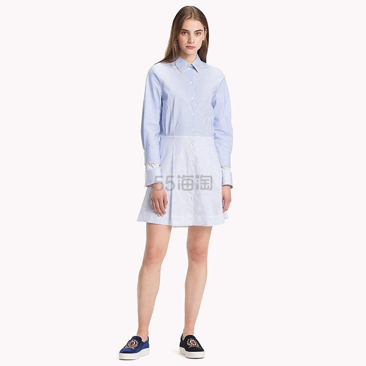 Tommy Hilfiger 条纹拼接袖衬衫裙 9.99(约1,803元) - 海淘优惠海淘折扣|55海淘网