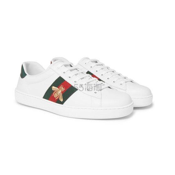 GUCCI 刺绣小白鞋 £450(约3,961元) - 海淘优惠海淘折扣 55海淘网
