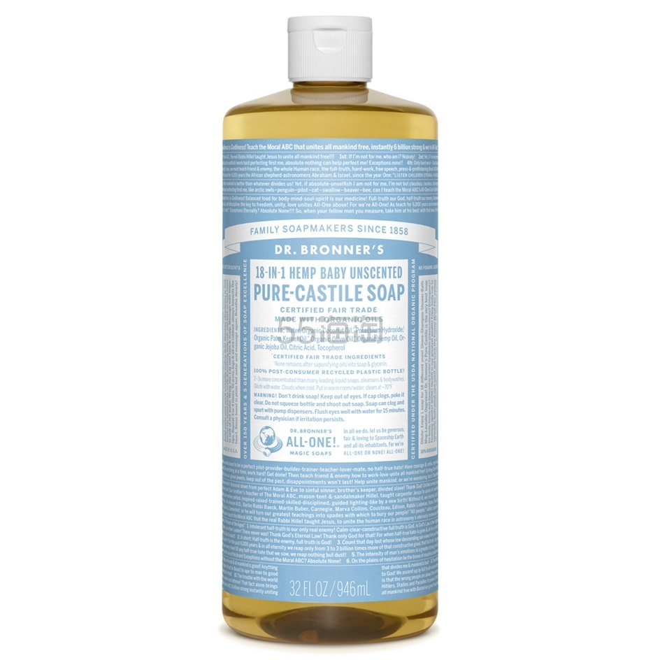 【中亚Prime会员】Dr. Bronners 浓缩天然液体皂 946ml 宝宝淡香味 到手价129元 - 海淘优惠海淘折扣|55海淘网
