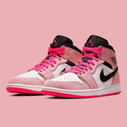 【大码】Air Jordan 1 Mid SE「Crimson Tint」配色篮球鞋