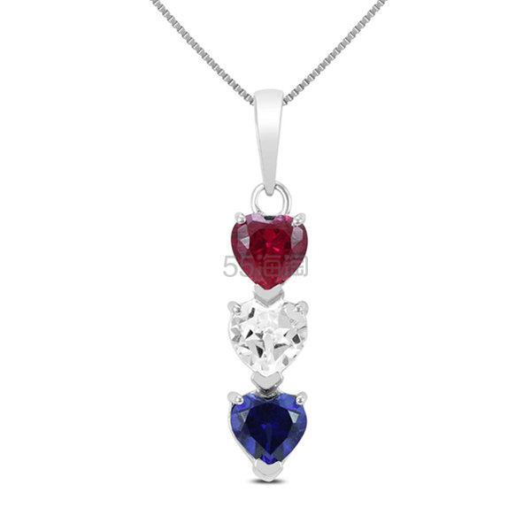 SZUL 三宝石银质项链 (约665元) - 海淘优惠海淘折扣|55海淘网