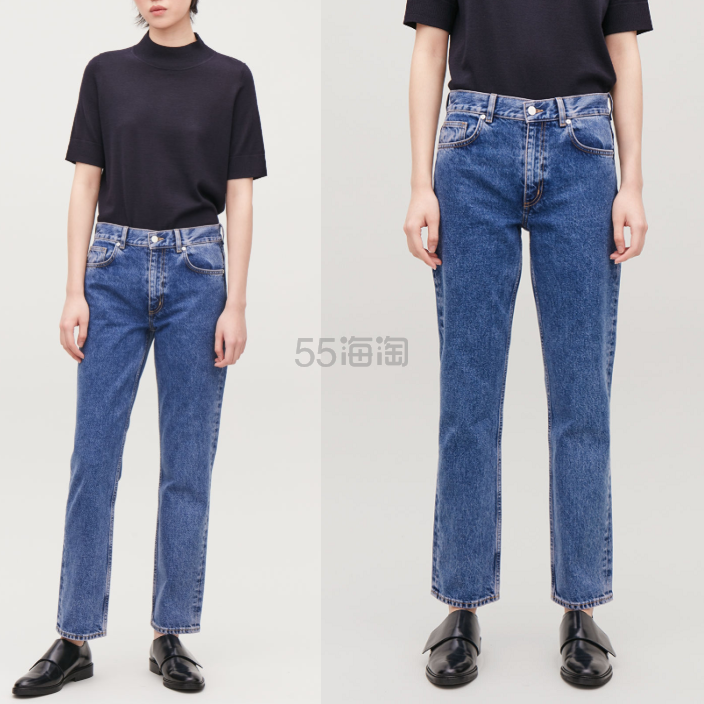 COS 直筒做旧牛仔裤 5(约773元) - 海淘优惠海淘折扣 55海淘网