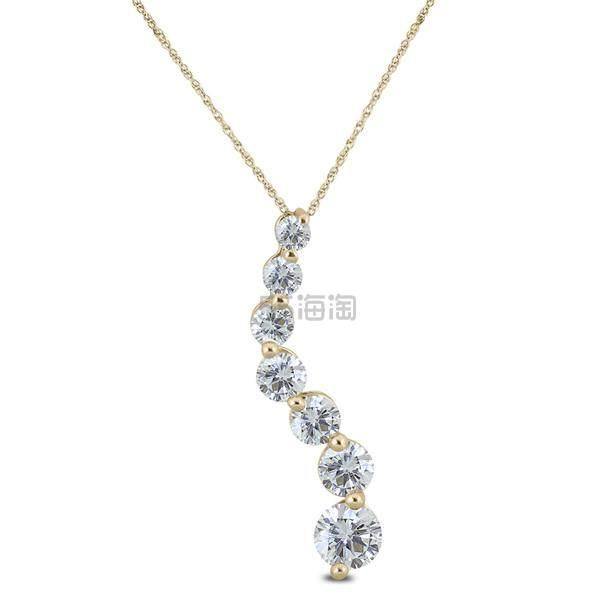 SZUL 高性价比 1/4克拉钻石10k黄金项链 9(约798元) - 海淘优惠海淘折扣 55海淘网