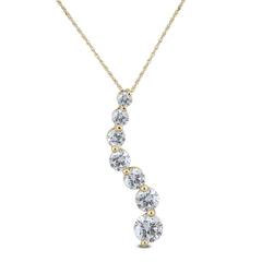 SZUL 高性价比 1/4克拉钻石10k黄金项链