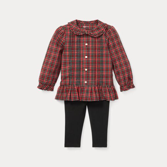 Ralph Lauren 婴儿款红色格纹连体裤 .79(约133元) - 海淘优惠海淘折扣|55海淘网
