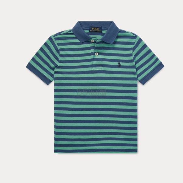 Ralph Lauren 大童款绿色格纹 Polo 短袖 .59(约105元) - 海淘优惠海淘折扣|55海淘网