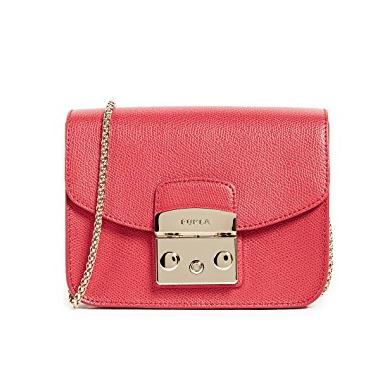 Furla Metropolis Mini Cross Body Bag 红色斜挎包
