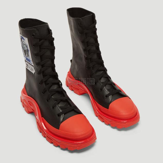 ADIDAS BY RAF SIMONS Detroit 红色长筒运动靴 5(约2,920元) - 海淘优惠海淘折扣|55海淘网