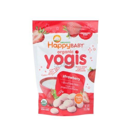 【9折+2件以上再9.5折】免邮中国!Happy Family Organics 美国禧贝有机酸奶溶豆 草莓味 28g .25(约22元) - 海淘优惠海淘折扣|55海淘网