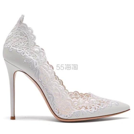 Oh my god,也太美了吧~GIANVITO ROSSI 白色蕾丝高跟鞋 €817.2(约6,195元) - 海淘优惠海淘折扣 55海淘网