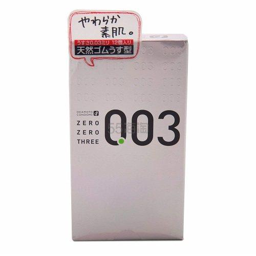 【日亚自营】okamoto 冈本 003天然橡胶避孕套 12个