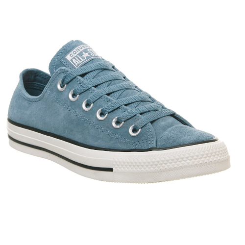 【码全】Converse All Star 低帮牛仔蓝麂皮帆布鞋 (约578元) - 海淘优惠海淘折扣|55海淘网